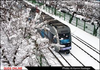 بارش برف در مشهد /گزارش تصویری