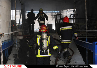 آتش سوزی ساختمان خیابان میلاد مشهد