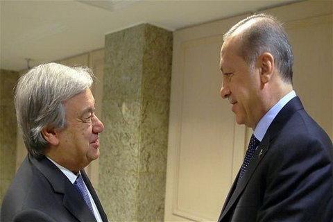 دبیرکل سازمان ملل و اردوغان