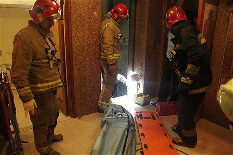 سقوط آسانسور - آتش نشانی
