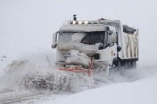 مسدودشدن راه روستایی براثر بارش برف