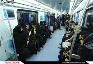 آیین بهره برداری خط 2 قطارشهری مشهد با حضور تولیت آستان قدس رضوی