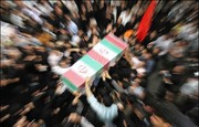 پیکر شهید مدافع حرم روح الله امیری در محمدشهر تشییع شد