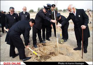 مراسم روز درختکاری در مشهد