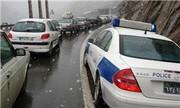 بارش برف ترافیک هراز را سنگین تر کرد
