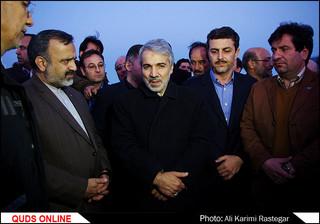 بازدیدمحمد باقر نوبخت معاون رئیس جمهور از حاشیه شهر مشهد