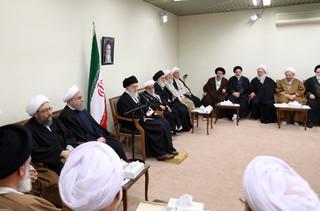 رهبر معظم انقلاب اسلامی در دیدار رئیس و اعضای مجلس خبرگان رهبری