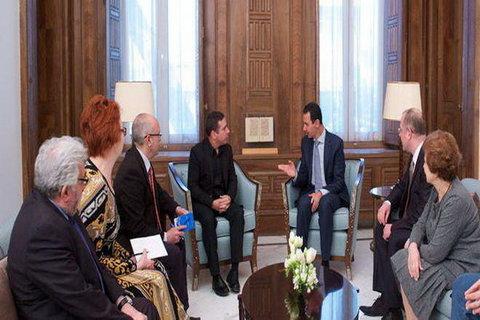 بشار اسد در دیدار با هیأتی از پارلمان اروپا