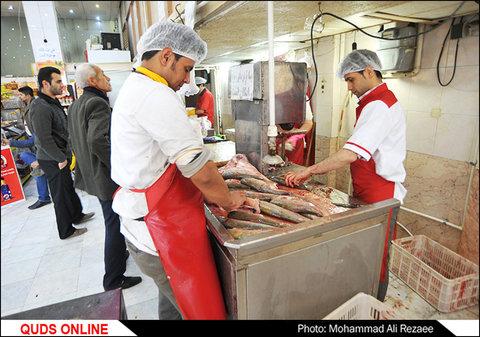بازار گوشت مرغ و ماهی در آستانه عید نوروز