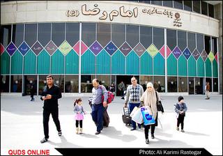 ورود زائرین و مسافران نوروزی به مشهد مقدس