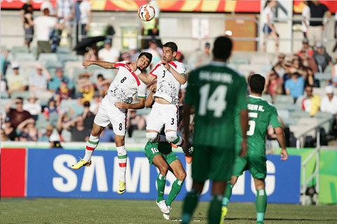 دیدار تیم های ملی فوتبال ایران و عراق