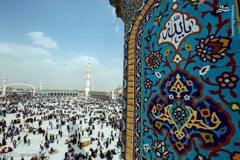 تحویل سال نو در مسجد مقدس جمکران