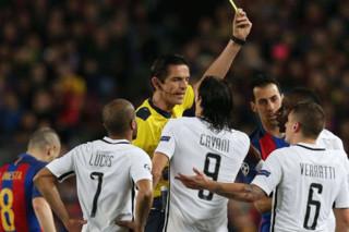 دیدار تیم های فوتبال بارسلونا و پاریسن ژرمن