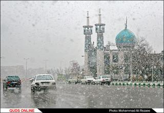 برف بهاری در مشهد
