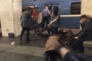 فیلم/ اولین تصاویر از انفجار در متروی سنپترزبورگ/ کشته شدن 10 نفر تا این لحظه