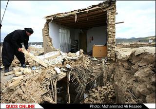 زلزله ۶ ریشتری در روستای دوقلعه فریمان/گزارش تصویری