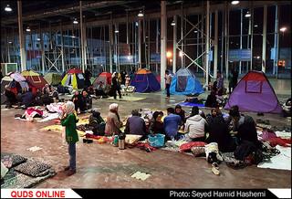زلزله ؛ مشهدیها امشب در خیابانها و سوله های بُحران میخوابند/تصاویر
