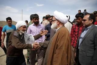 بازدید نماینده ولی فقیه از مناطق زلزله زده خراسان رضوی