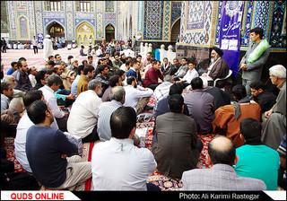 مراسم اعتکاف در حرم مطهر رضوی/گزارش تصویری