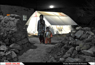 روستاهای بخش رضویه یک هفته بعد از زلزله/گزارش تصویری
