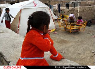 بچه های زلزله و ویرانه های ده