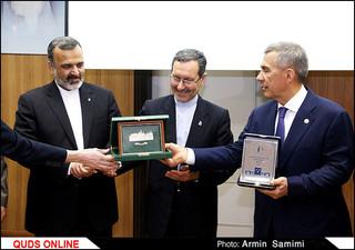 دیدار رئیس جمهور تاتارستان با رئیس دانشگاه فردوسی مشهد/ گزارش تصویری