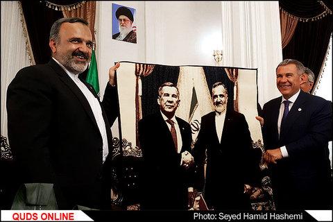 حضور رئیس جمهور تاتارستان وهیئت همراه درمشهد