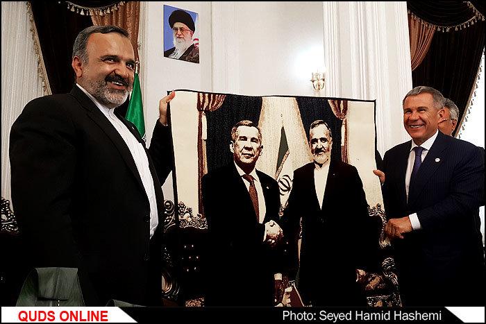 حضور رئیس جمهور تاتارستان وهیئت همراه درمشهد/تصاویر