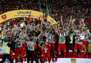 جشن قهرمانی تیم فوتبال پرسپولیس