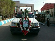 مراسم تشییع شهید نیروی انتظامی در اهواز  برگزار شد