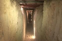 فیلم / تونلهای کشف شده تروریستها در «القابون» دمشق