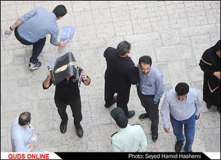 هواداران دکترحسن روحانی در ورزشگاه تختی مشهد