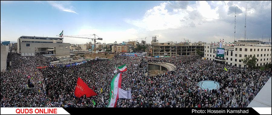 اجتماع حامیان حجت الاسلام  والمسلمین رئیسی در مشهد/ گزارش تصویری