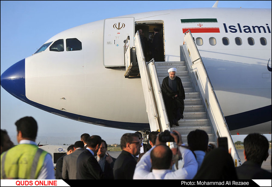 سفر رییس جمهور به مشهد/گزارش تصویری