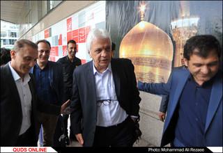ورود مهمانان مراسم تقدیر از بهترین مهاجم تاریخ لیگ برتر به موسسه فرهنگی قدس