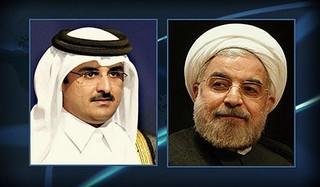روحاني و امير قطر