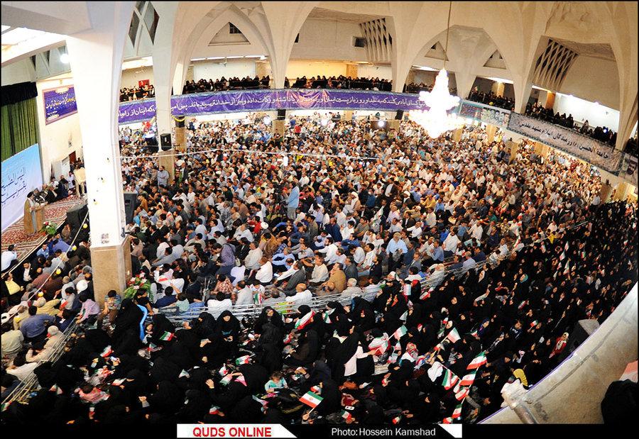 سخنرانی حجت الاسلام والمسلمین رئیسی در هئیت جامعه الحسین مشهد / گزارش تصویری
