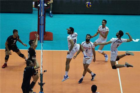 دیدار تیم ملی والیبال ایران و بلژیک