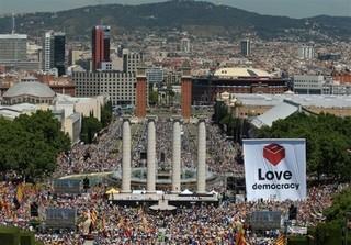 تظاهرات مردم بارسلونا، تظاهرات مردم اسپانیا