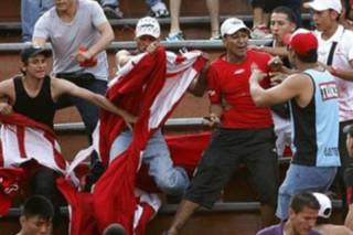 درگیری هواداران فوتبال در کلمبیا