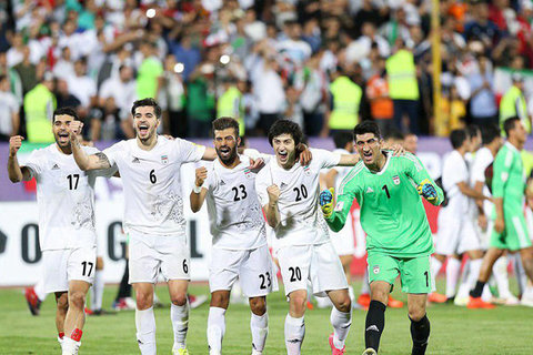 شادی بازیکنان تیم ملی فوتبال ایران