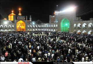 مراسم شب نوزدهم ماه مبارک رمضان در حرم مطهر حضرت رضا (ع)