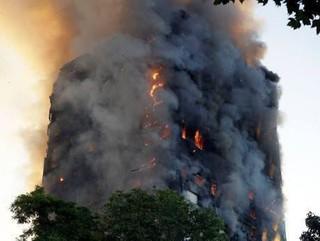 آتش سوزی گسترده مهیب برج 24 طبقه در لندن