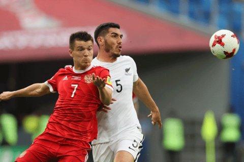 دیدار تیم های ملی فوتبال روسیه و نیوزلند