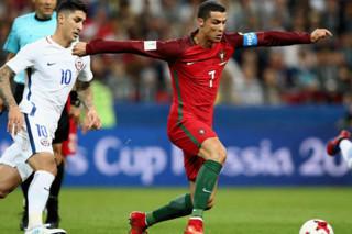 دیدار تیم های ملی فوتبال پرتغال و شیلی