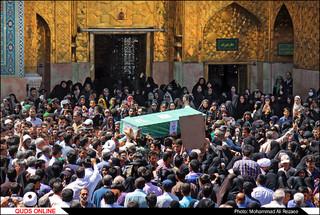 تشییع شهید مدافع حرم حضرت زینب (س) در حرم مطهر رضوی/گزارش تصویری