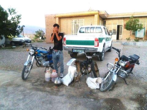سارق موتورسیکلت در دام ماموران انتظامی جاجرم گرفتار شد