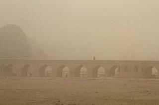 گرد و خاک در اصفهان