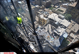آتش سوزی در خیابان امام رضا(ع) مشهد