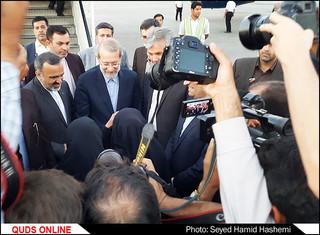 ورود رئیس مجلس شورای اسلامی به مشهد